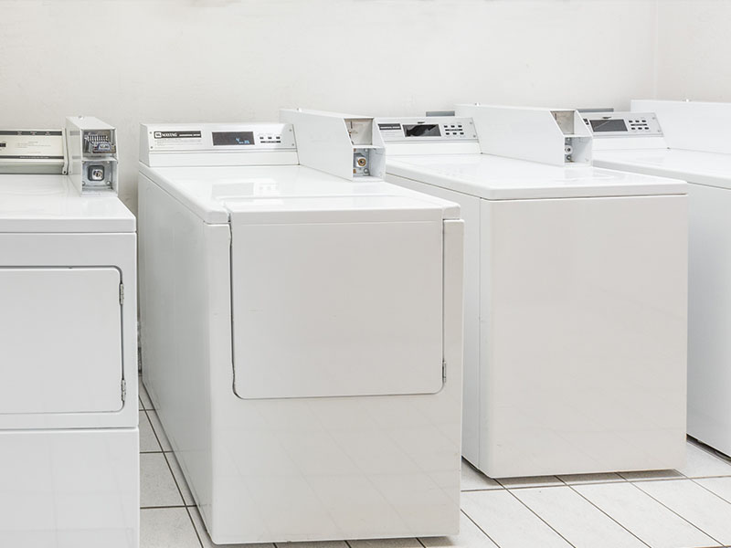 Photo of guest laundry area